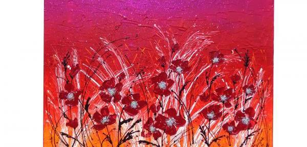 quadri astratti fiori gartem original